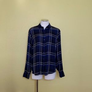 Lucky Brand black and blue flannel size S